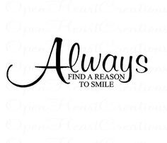 ... Smile Wall Decal - Vinyl Wall Quote Lettering Decal 12H X 28W QT0236