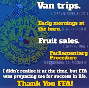 ... social media last week. I thought it was a neat way to describe FFA