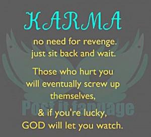 No need for revenge!