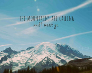 Nature Photography: Mount Rainier with John Muir quote