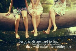 Bestfriend are hard to find (Friendship Quotes)