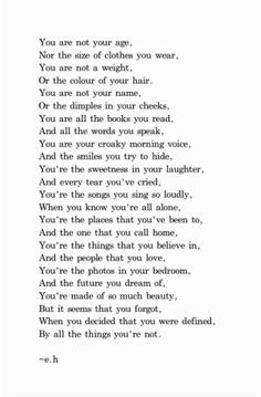 ... inspirational quotes / slice of life / long but WELL worth the read