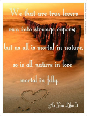 William Shakespeare As You Like It Quote