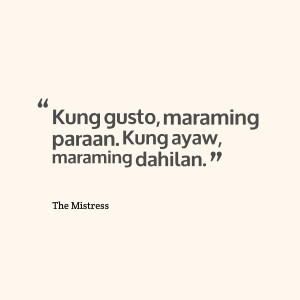 Tagalog Quotes The Mistress
