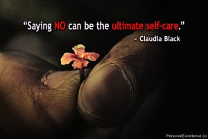 """Inspirational Quote: """"Saying no can be the ultimate self-care ..."""