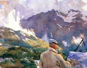John Singer Sargent - Artist in the Simplon (1909) Fogg Museum of Art