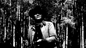 ... White: John Wayne as Marshall Reuben J. 'Rooster' Cogburn in True Grit