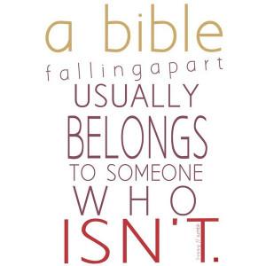 bible fallingapart usually belongs to.....