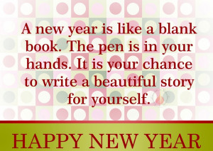 New Year is like a blank book.