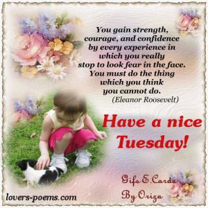 Good Morning! Happy Tuesday!!