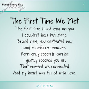 first time we met | poem about meeting your baby for the first time ...