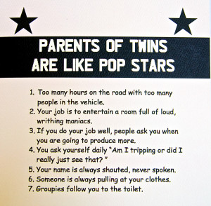 Twin Sayings Parents of twins card 2.99