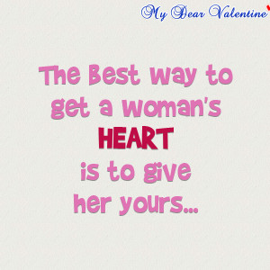 girlfriend quotes - The best way to get