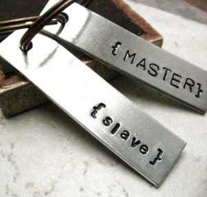 Master and Slave, set of 2 Aluminum Bar Key Chains, plz read listing ...