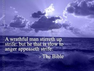 ... man stirreth up strife: but he that is slow to anger appeaseth strife