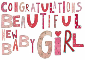 baby girl congratulations greetings