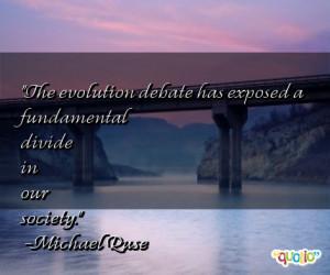 The evolution debate has exposed a fundamental