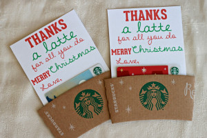 thanks a latte   diy teacher christmas gift