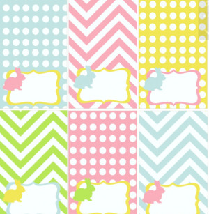 am so excited about this huge, adorable Easter printable collection ...