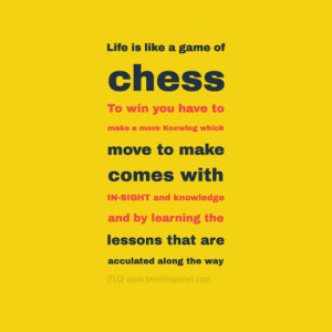 Living Life Quotes: Life Is Like A Game