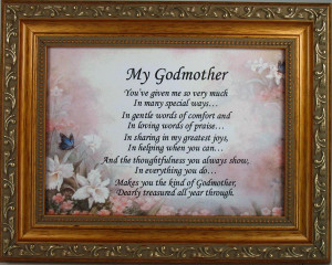 ... by Occasion / Godparent Gifts / Godmother 5x7 Religious Plaque #57F-GM