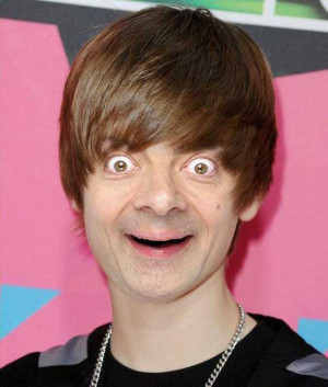 ... funny face of Mr. Bean. No worries Mr. Bean …you look even cuter