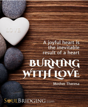 ... of a heart burning with love.