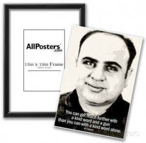 Al Capone Kind Word and A Gun Quote Poster Poster Frame Set