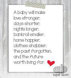 New Baby Poem - Baby Shower Poem - Poem for New Parents - Instant ...