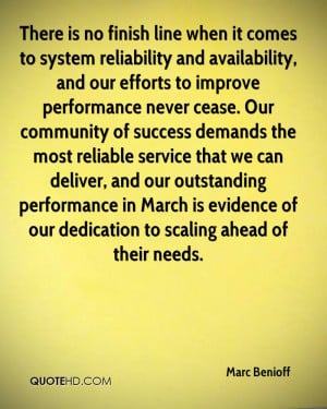 There is no finish line when it comes to system reliability and ...