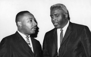 Robinson with Martin Luther King Jr.