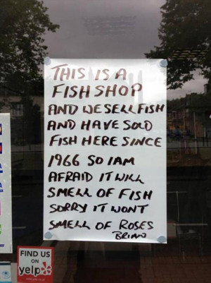 Awesome Fish Shop will SMell like Fish Sign 298x400 Awesome Fish Shop ...