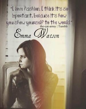 Emma watson quotes sayings about fashion