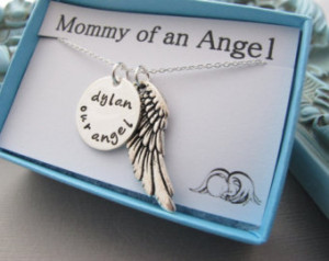 of an Angel, Pregnancy loss necklace, pregnancy loss jewelry, sympathy ...
