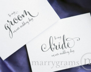 wedding card to your bride or groom on your our wedding day love note ...