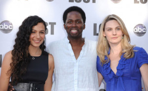 Harold Perrineau , his wife Brittany, and their daughter Aurora(born ...