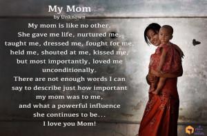 Poem: My Mom