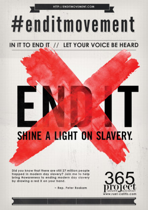 ... red X on your hand. #enditmovement. ~ Rep. Peter Roskam