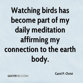Watching birds has become part of my daily meditation affirming my ...