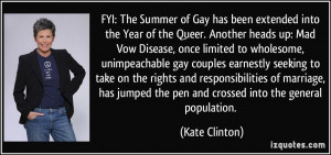 Mad Vow Disease, once limited to wholesome, unimpeachable gay couples ...