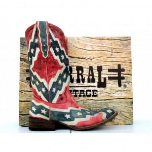 Home / Corral Mens Rebel Flag Square Toe Cowboy Boots