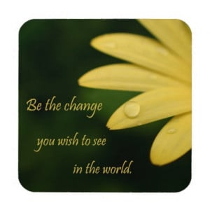 yellow_african_daisy_flower_gandhi_quote_gifts_cork_coaster ...