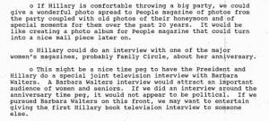 Lisa Caputo, Mrs. Clinton's press secretary, floated a series of ideas ...