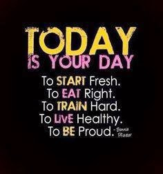 Great Healthy Living Quote #76-- Today is Your Day to Start Fresh!