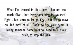What I've learned in life
