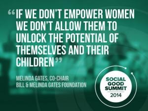 Melinda Gates, Co-Chair, Bill and Melinda Gates Foundation