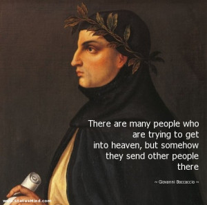 ... send other people there - Giovanni Boccaccio Quotes - StatusMind.com