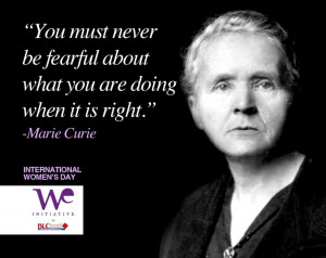 Happy Women's Day - Marie Curie