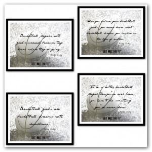 Basketball Posters 5-8 in Black and White