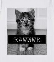 Rawr Cat - adorable cat, must have tee